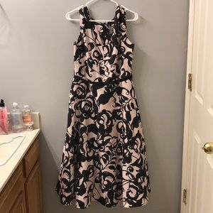 Taylor Black And Pink Dress Size 10